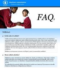 FAQ - Eli useimmiten kysyttyjä kysymyksiä nälästä, ravinnosta ja maailman nälkäänäkevistä
