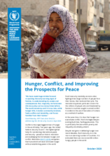 Hunger, Conflict, and Improving the Prospects for Peace 2020 -tiedote